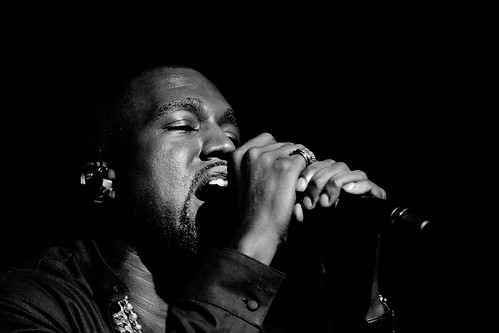 Kanye West performing at the Samsung Galaxy Note II Launch Event