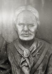 Elizabeth Stephens, Lone Fir Cemetery, Portland (austin granger) Tags: film monument portland spirit headstone ghost haunted flare gravestone inexplicable stern largeformat deardorff lonefircemetery elizabethstephens austingranger
