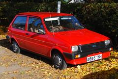 Metro (Sam Tait) Tags: austin metro red hatchback european classic retro old car mini 1000 british leyand autumn leaves classical 1983