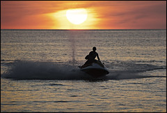 Karon Beach Sunset Jetskiing (Jamie Monk in Phuket) Tags: sunset ski jet phuket jetski karonbeach