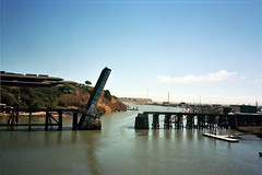 (john daniel reiss) Tags: county ca bridge film 35mm bay canal marin north t3 yashica 2012 ektar