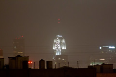 ESB/Chrysler/Sandy (Roblawol) Tags: nyc newyorkcity ny newyork storm rain fog skyline manhattan sandy hurricane queens esb empirestatebuilding chryslerbuilding frankenstorm hurricanesandy