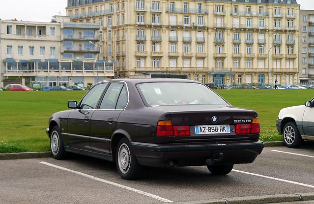 france car seine sedan diesel 5 voiture 1993 turbo german maritime bmw series normandie dieppe saloon 525 normandy luxury série serie ul berline 520 haute 76 td e34 i6 525td m51d25 az898rk