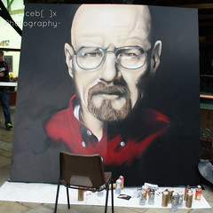 Face to Face Walter White -  London Tattoo Convention 2012 (| Voiceb[ ]x Photography |) Tags: uk red portrait usa man london art shirt tattoo painting square beard glasses chair grafitti arty head spraypaint 2012 vbp tobaccodocks walterwhite breakingbad londontattooconvention2012 grafittilife voicebx adamvoice