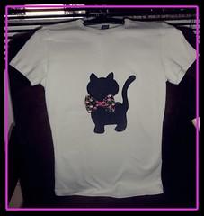 Camiseta Gato Preto ♥♥ (Marcia Sicoti Patchwork ♥♥♥) Tags: gato patchwork camiseta
