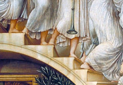 Burne-Jones, The Golden Stairs, detail with steps