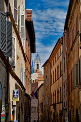 Via di Citta (Lock Stock and Travel) Tags: italy nikon medieval tuscany siena shoppingstreet campanille viadicitt d700 davidnaylor