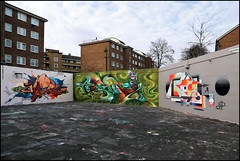 Vibes / Bonzai / Roid (Alex Ellison) Tags: urban graffiti bonsai halloffame msk ha vibes southlondon rt bonzai hof roids stockwell heavyartillery