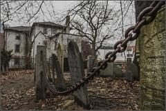 Restless Bones Etherealize (Jack Deem) Tags: cemetery graveyard leaves canon dark death chain 7d bones salem mass canon7d