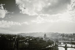 View from Castel Sant'Angelo (ingephotography) Tags: light cloud white black rome roma clouds licht view wolken tiber uitzicht zwart wit castel santangelo wolk