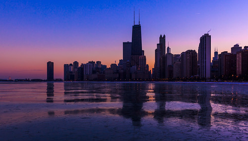 A Chicago Winter Twilight