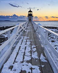 Marshall Point Sunset (katie47n) Tags: winter sunset snow cold evening dusk maine february portclyde canon1022 lee09gnd marshallpointlighthouse mainephotography canon7d mainelandscapephotography snowylighthouse katherinegendreauphotography