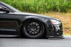 f121-matte-black-audi-a8-eurowise-2 (AvantGardeWheels) Tags: a8 matte black 22inch f121 audi bagged lowered stance slammed ag avant garde wheels agwheels wheel rim rims design designs custom