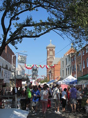 St. Gabriel Festival, Stiles St., Little Italy, Baltimore, Maryland (Paul McClure DC) Tags: architecture people baltimore maryland aug2015 littleitaly