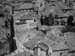 The time to repair the roof is when the sun is shining (John F. Kennedy) (Peter Jaspers) Tags: frompeterj 2016 omd em10 olympus zuiko 918mm bw bn zwartwit blackwhite blackandwhite blancnoir blancetnoir france french paca provence luberon alpesdehautprovence moustierssaintemarie gorgesduverdon mostbeautifulvillagesoffrance lespluxbeauxvillagesdefrance toits carrelages carreaux roofs rooftiles faience textures patterns