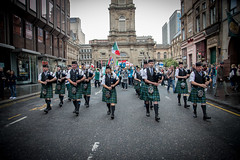 Homeless World Cup 2016. George Square, Glasgow, Scotland - 10th July 2016 (Homeless World Cup Official) Tags: hwc2016 homelessworldcup aballcanchangetheworld thisgameisreal streetsoccer glasgow soccer pipers openingceremony parade pipeband bagpipes kilt kilts copy scotland