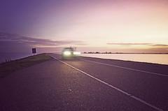 IMGP5324hsvf (hans hoeben) Tags: road marken car lights dike dutch holland pentax k5 dslr 1855wr