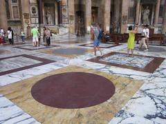 Rome: Pantheon - Floor (escriteur) Tags: img5668 rome roma pantheon temple basilica sanctamariaadmartyres stmary martyrs interior floor marble granite porphyry