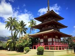 Buddhist pagoda in Lahaina, Maui, Hawaii (PeterCH51) Tags: hawaii maui lahaina buddhist japanese temple pagoda iphone peterch51 jodomission