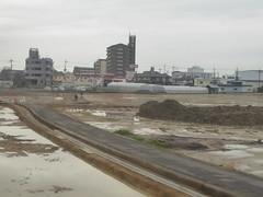 Major construction works (seikinsou) Tags: japan spring osaka kix kansai airport haruka jr train shinosaka hineno construction building