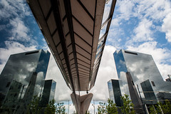 Clouds and reflection @ Rotterdam (PaulHoo) Tags: rotterdam city urban holland netherlands 2016 nikon d700 reflection architecture building mirror sky clouds