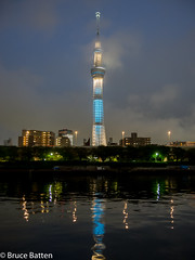 160530 Sumida River cruise-06.jpg (Bruce Batten) Tags: night workfunctions plants subjects reflections buildings atmosphericphenomena trees locations occasions rivers urbanscenery honshu fog cloudssky japan tokyo taitku tkyto jp