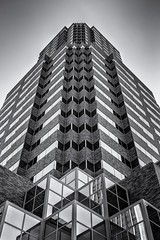 KOIN Tower PDX (prose729) Tags: portland pdx kointower oregon pacificnorthwest architecture skyscraper building city urban bw blackwhite monochrome mono
