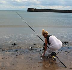 stalker sea fish 002 (team stalker) Tags: sexy woman milf stockings pvc shiny panties sexylegs blonde fishnets boots satin carp fishing lake carpie