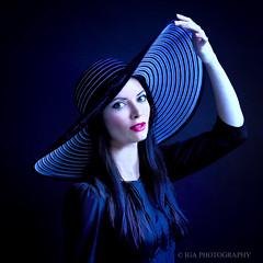 A Self-portrait (Iga Supernak) Tags: igasupernakphotography portrait light photographer selfportrait blue red black hat flickr canon usa losangeles california photo picture photography igasupernak