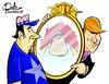 0916 trump mirror (DSL art and photos) Tags: editorialcartoon donlee donaldtrump mirror character repiblican american
