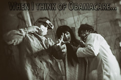 When I think of Obamacare (RickDrew) Tags: health care healthcare meme doctor patient surgeon vintage nik