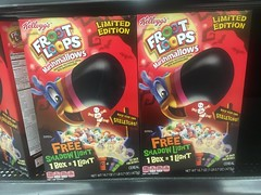 Kellogg's Froot Loops Cereal Halloween Edition Kids Breakfast Cereal with Skeleton Mashmallows, 9/2016, pics by Mike Mozart of TheToyChannel and JeepersMedia on YouTube #Kelloggs #Froot #Loops #Cereal #Kids #Breakfast (JeepersMedia) Tags: kelloggs froot loops cereal kids breakfast