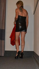 DSC_0025 (magda-liebe) Tags: crossdresser cuir leather french shoes travesti tgirl highheels outgoing mini skirt lyon tatoo