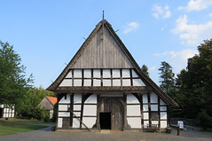 IMG_5307 (jaglazier) Tags: 18thcentury 18thcenturyad 2016 91416 architecture barns bauernmuseum bielefeld buildingmuseums buildings copyright2016jamesaglazier crafts farmhouses farmmuseum germany houses museums painting september teutoburg teutoburgforest teutoburgerwald thatch woodenbuildings woodworking art clouds halftimbered inscriptions reliefs thatched timber writing nordrheinwestfalen