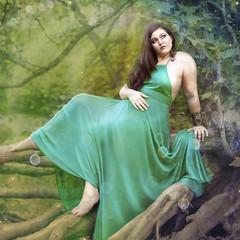 'Of the Amazon' (Natasha Root Photography) Tags: natasharootphotography imagine create inspire painterly fineart fantasy legend amazon greek green greens brunette orbs square roots dress tree tribe fashion