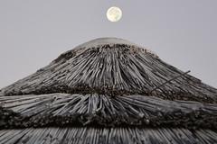 Spunta la luna dal monte (ombrellone) - The moon comes from the mountain (beach umbrella). (sinetempore) Tags: spuntalalunadalmonte themooncomesfromthemountainbeachumbrella ombrellone beachumbrella lunapiena fullmoon cielo sky