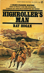 Novel-Highroller's-Man-by-Ray-Hogan (Count_Strad) Tags: novel cover art coverart book western scifi wwii