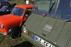 Two very odd utility vehicles... (Pim Stouten) Tags: arden british car auto wagen pkw vhicule macchina burgzelem ute utility mini pickup steyrpuch haflinger