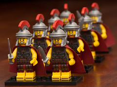 For the glory of Rome! (Andrew D2010) Tags: minifigures helmet sword lego romansoldier romancommander series10 marching soldier roman