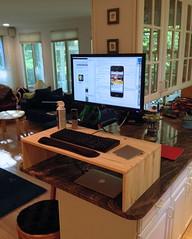 home apple wall standing work office mac desk mount ergonomics