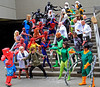 DragonCon 2012 - Spider-Man Group (rbakeratl) Tags: costumes atlanta canon blackcat cosplay spiderman peterparker convention 7d marvel tamron kingpin dragoncon firestar
