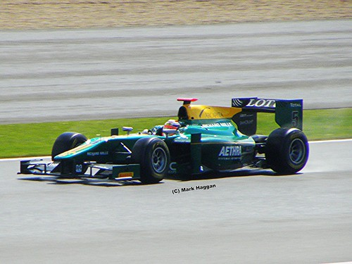 Jules Bianchi in his Lotus in GP2 at the 2011 British Grand Prix at Silverstone