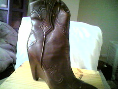 side boots (ak-move) Tags: brown cowboy shoes boots chocolate casual cowgirl bcbg wedge ankleboots shortboots size95
