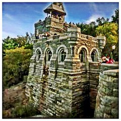 Belvedere Castle is a building in Central Park in New York, New York (MannyRios) Tags: nyc ny newyork apple canon square mason smartphone squareformat ios manny rios freemason iphone dlsr mannyrios iphonegraphy iphoneography instagramapp uploaded:by=instagram mannyriosphotos mannyriosnet