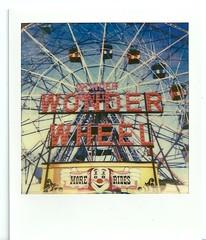 Wonder Wheel (Minugia) Tags: summer usa newyork america fun polaroid coneyisland view clown amusementpark wonderwheel impossibileproject