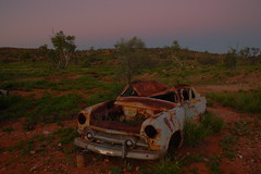 Alice Springs end of the Road (Darren Schiller) Tags: abandoned car automobile rusted wreck derelict alicesprings