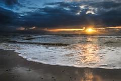 Love life (Bettinadam) Tags: ocean sunset sea west fall denmark coast danmark havet solnedgang lightroom skum jylland vestkyst sndervig