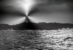 HOUSE OF LIGHT (explore) (kenny barker) Tags: sea bw seascape monochrome lumix scotland elie daarklands panasoniclumixgf1 kennybarker