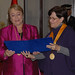UN Women Executive Director Michelle Bachelet receives is declared an honorary guest of the city of Lima from Mayor Susana Villarán on 16 October 2012