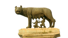 Romulus and Remus suckling from the She-wolf.